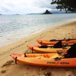 Kayaks all setup to go
