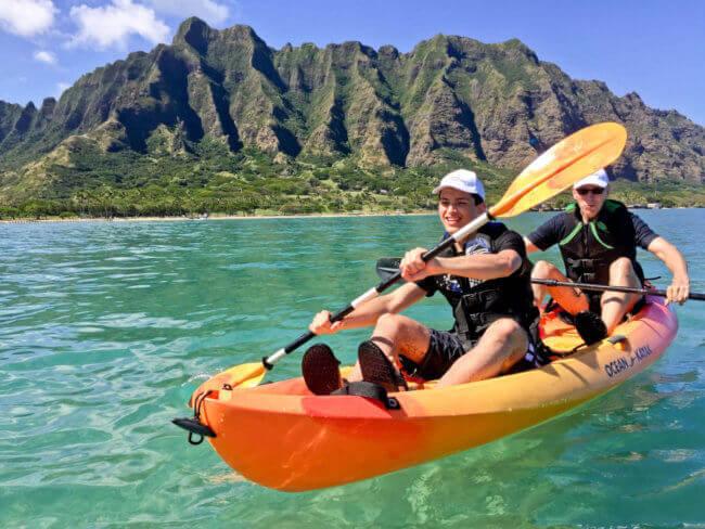 Kayaking Kualoa Regional Park