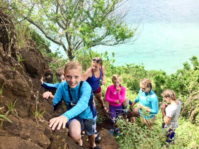 Hiking Mokoli'i on Oahu