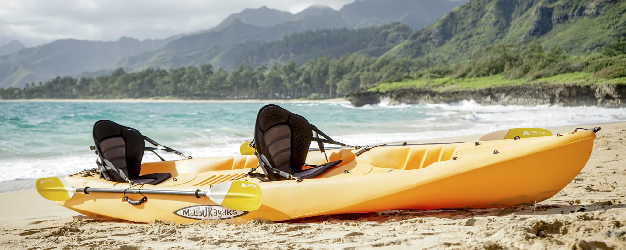 Tandem Kayak Rentals on Oahu, Free Delivery