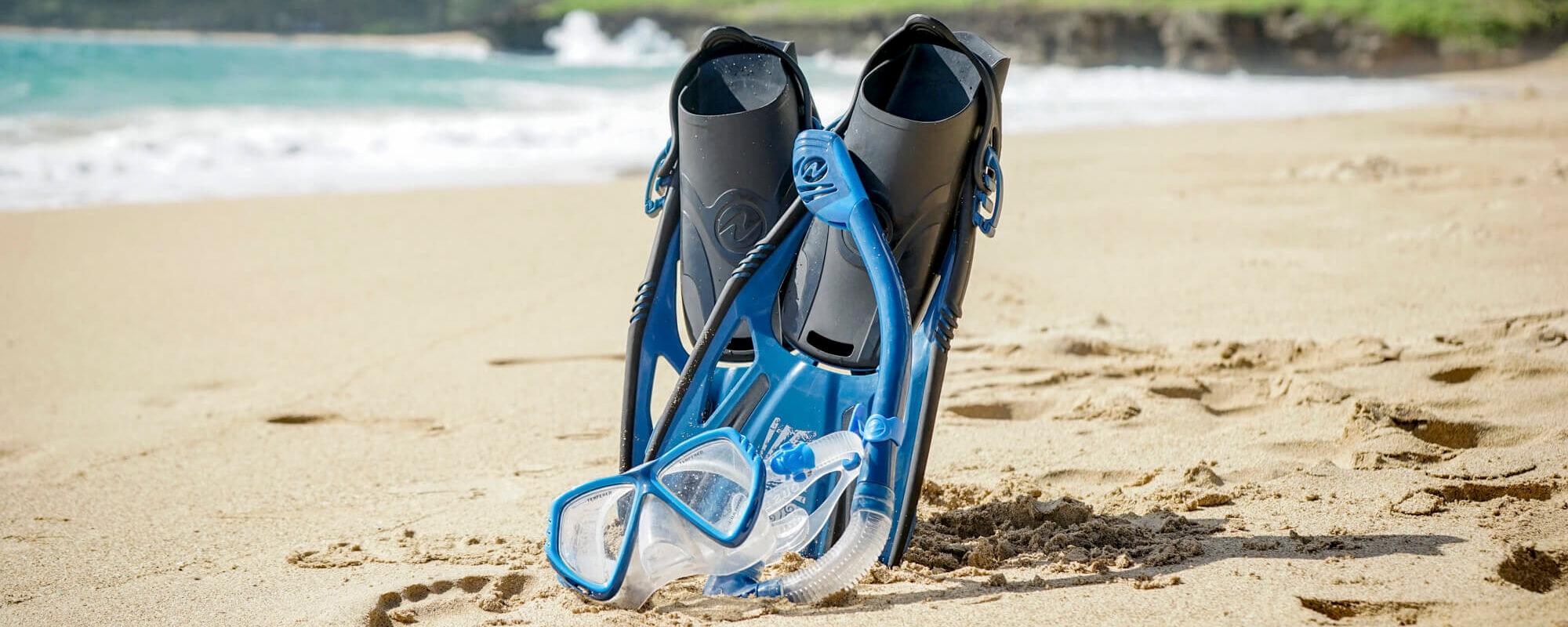 Oahu snorkel Mask and Fins Rentals