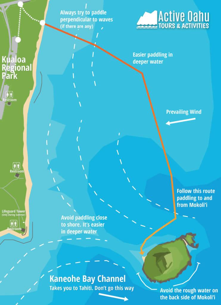 Kayaking Route to Chinaman's Hat